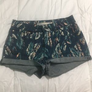 Nasty Gal Charley feather shorts size 27